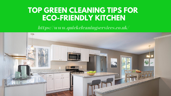 Green Cleaning Tips for kitchen