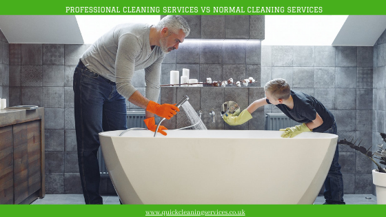 Professional cleaning SERVICES Vs Normal cleaning services