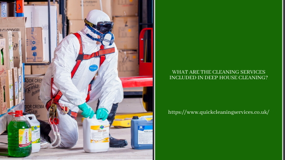 What are the cleaning services included in Deep House cleaning