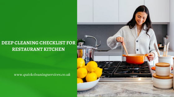 Deep Cleaning Checklist for Restaurant Kitchen