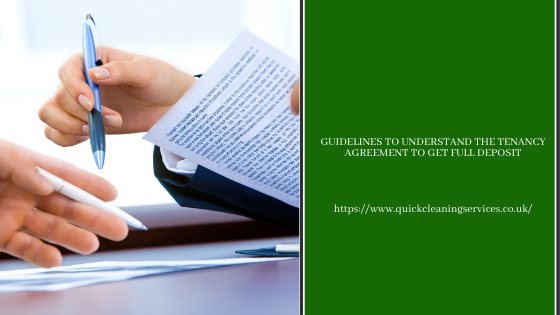 Guidelines to understand the Tenancy agreement to get full Deposit